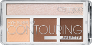 Палетка для контурирования век и бровей: тени, хайлайтер CATRICE Eye & Brow Contouring Palette 020 But First, Hot Coffee! кофе: фото