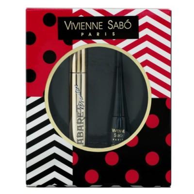 Подарочный набор Vivienne Sabo тушь Cabaret premiere т. 01+подводка Charbon т.1 2017: фото