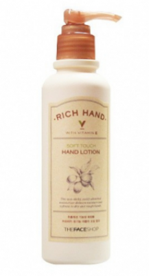 Лосьон для рук питательный THE FACE SHOP Rich hand v soft touch hand lotion 200мл: фото