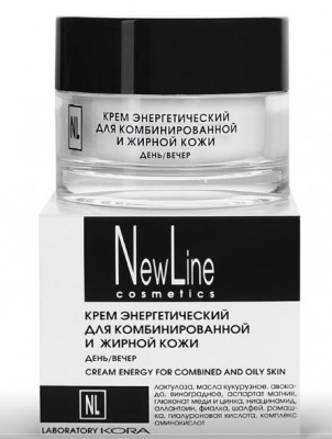 Крем энергетический для комбинированной и жирной кожи NEW LINE 50 мл: фото
