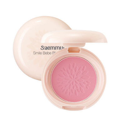 Румяна стойкие матовые THE SAEM Saemmul Smile Bebe Blusher 01 Rose PinkN 6гр: фото
