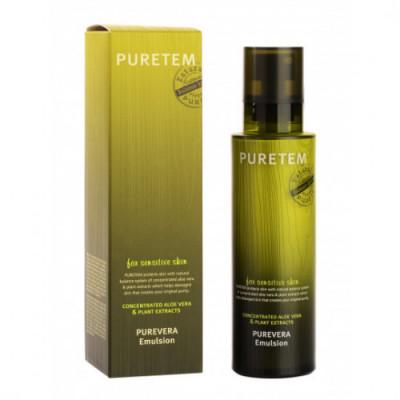 Эмульсия для лица с экстрактом алоэ вера Welcos Puretem Purevera Emulsion 130мл: фото