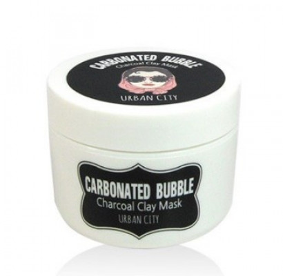 Маска для лица глиняно-пузырьковая на основе угольного порошка Baviphat Urban City Carbonated Bubble Charcoal Clay Mask 100мл: фото