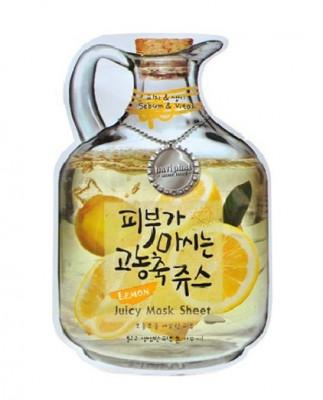 Маска тканевая фруктовая Baviphat Lemon Juicy Mask Sheet sebum & Vital 23г: фото