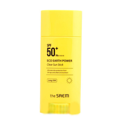 Стик солнцезащитный THE SAEM Eco Earth Power Clear Sun Stick 22г: фото