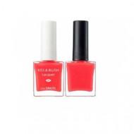 Набор лак для ногтей + тинт для губ и румяна THE SAEM Kiss&Blush Lacquer & Kissholic Nails CR01 9,5г+9.5г: фото