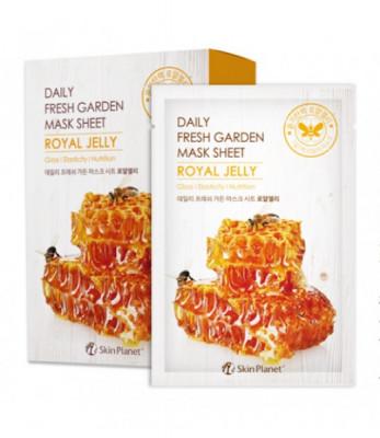 Маска для лица тканевая маточное молочко Mijin Skin Planet daily fresh garden mask sheet ROYAL JELLY 25гр: фото