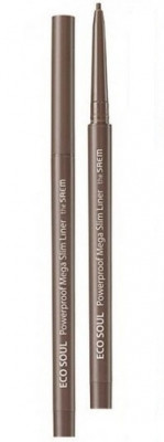 Подводка для глаз тонкая THE SAEM Eco Soul Powerproof Mega Slim Liner 02 Deep Brown 0.07г: фото