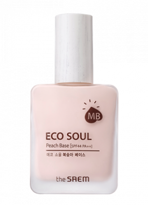 База под макияж THE SAEM Eco Soul Peach Base 30 мл: фото