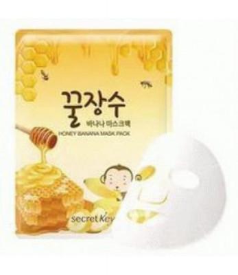 Маска для лица с экстрактом банана и меда SECRET KEY Honey Banana Mask Pack 1P 25гр: фото
