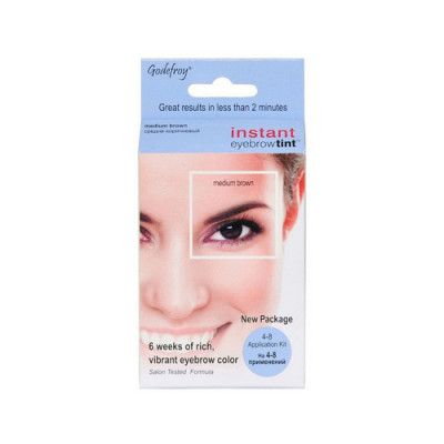 Краска-хна в капсулах для бровей Godefroy Eyebrow Tint Medium Brown набор 4 капсулы коричневая: фото