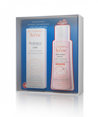 Набор Avene Hydrance Optimale LEGERE Легкий увлажняющий крем 40 мл + Лосьон мягкий тонизирующий 100 мл: фото