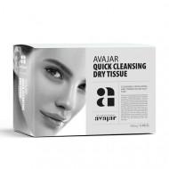 Сухие салфетки для демакияжа и умывания AVAJAR Quick cleansing dry tissue 15шт: фото