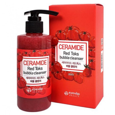 Пенка для умывания Eyenlip CERAMIDE RED TOKS BUBBLE CLEANSER 200мл: фото