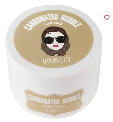 Маска для лица глиняно-пузырьковая с золотом Baviphat Urban City Carbonated Bubble Gold Mask 100г: фото