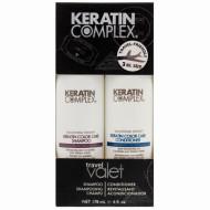 Набор Гладкость окрашенных волос Keratin Complex Travel Valets Color Care: Шампунь + Кондиционер 89мл*2: фото