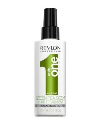 Спрей-маска для ухода за волосами с ароматом зеленого чая Revlon Professional UNIQ ONE HAIR GREEN TEA TREATMENT 150мл: фото