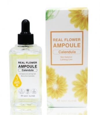 Сыворотка успокаивающая с календулой May Island Real Flower Ampoule Calendula 100мл: фото