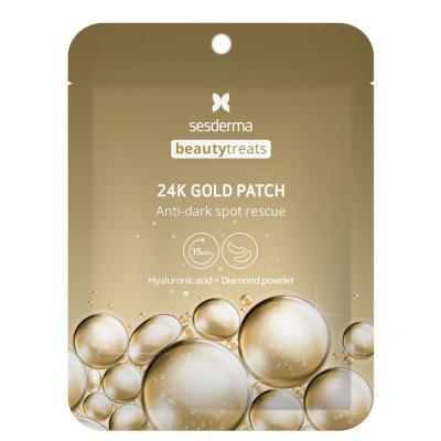 Маска-патч под глаза Sesderma BEAUTYTREATS 24K Gold patch: фото