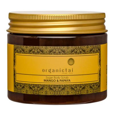 Скраб для тела на основе тростникового сахара с экстрактом манго и папайи ORGANIC TAI Sugar Body Scrub Mango & Papaya 200 мл: фото
