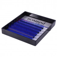 Ресницы Bombini Holi Синие, 6 линий, изгиб С MIX 8-13 0.10: фото