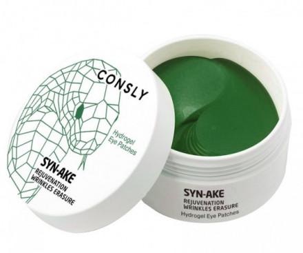 Патчи для глаз гидрогелевые с пептидом Syn-Ake CONSLY HYDROGEL SYN-AKE EYE PATCHES 60шт: фото