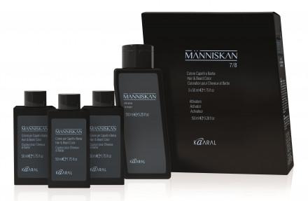 Набор Kaaral Manniskan: Краска для волос и бороды 50мл*3* + Активатор 150 мл 2/3 brown/dark brown - коричневый/ темно-коричневый: фото