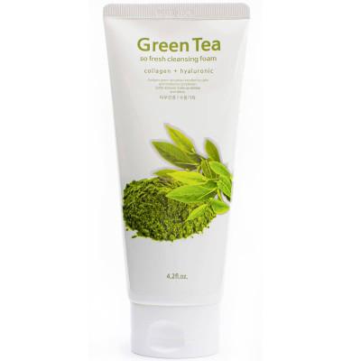 Пена для умывания с зеленым чаем Kkotminam So Fresh Cleansing Foam Green tea 120 мл: фото